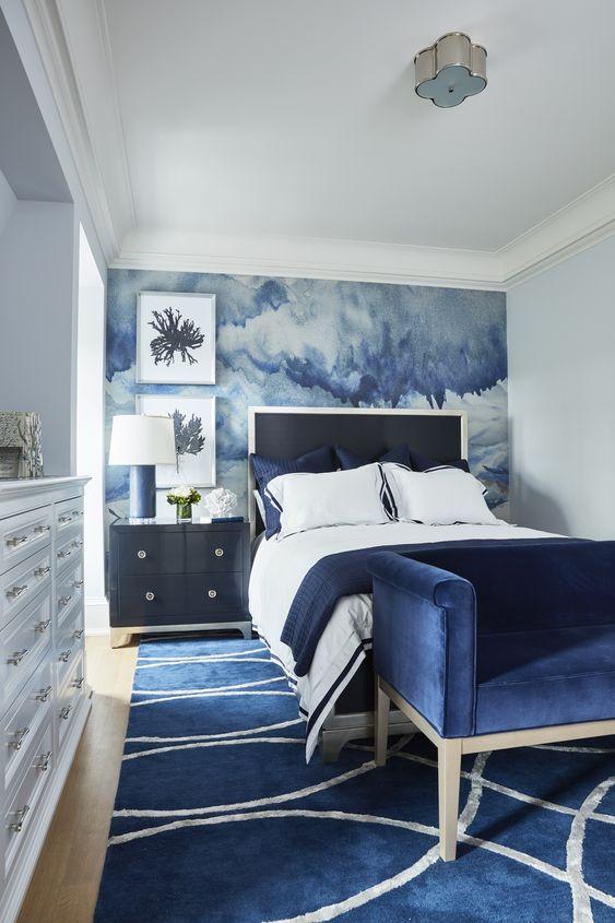 65 sovrum med tapetaccentväggar - Shelterne
