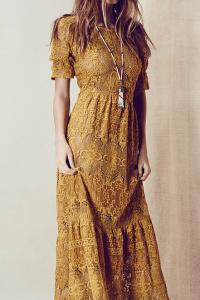 Trädgårdsfest klänning boho