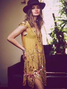 Trädgårdsfestklänning vintage