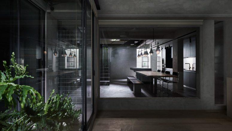 Minimalistisk och industriell humörgrå lägenhet - DigsDi