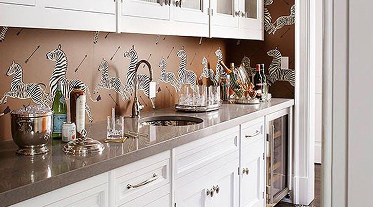 Hur man använder bakgrundsbild som kök Backsplash - PureW