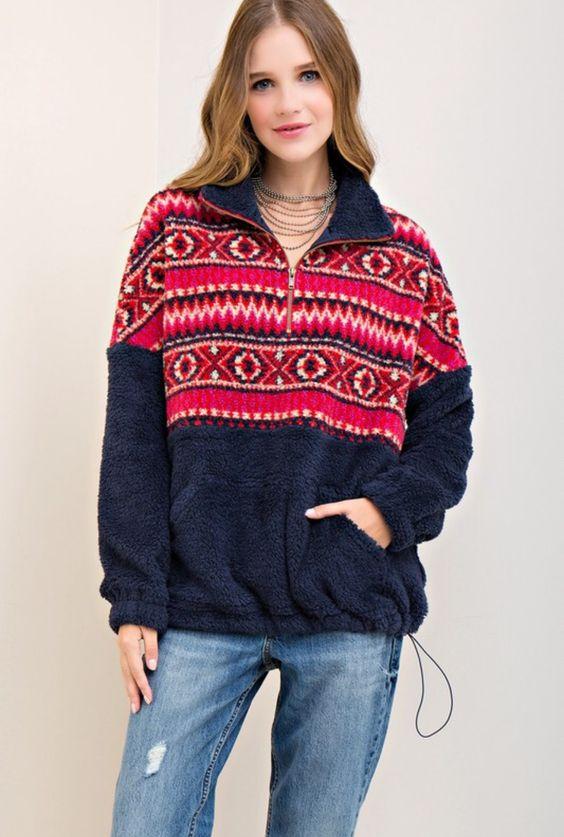 Aztek fleece tröja