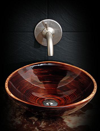 Lyxiga skräddarsydda tvättställ gjorda av naturligt trä |  Badrum.