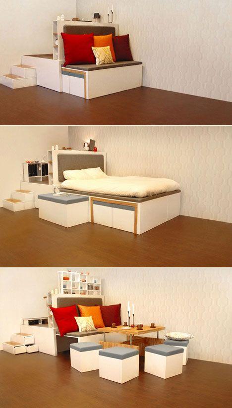 17 Multifunktionella möbler som ändrar funktion på nolltid.
