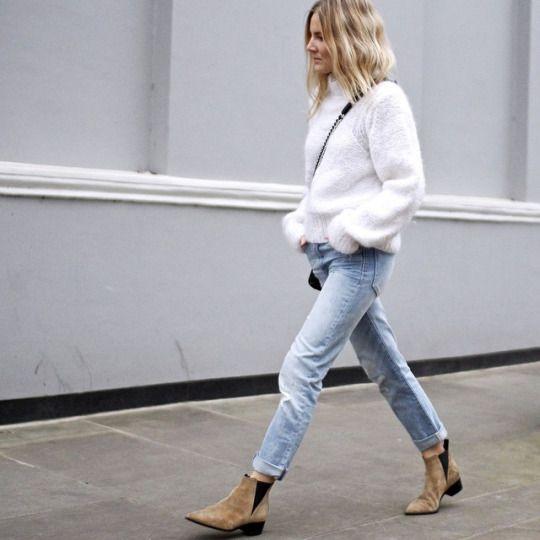 Chelsea stövlar fluffig tröja