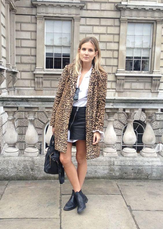Chelsea stövlar med leopardrock
