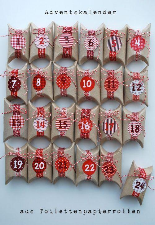 Toalettpapper rullar adventskalender och 25 hemlagad advent.