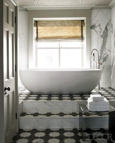 35 underbara moderna geometriska inredningsidéer för badrum |  Badrum.