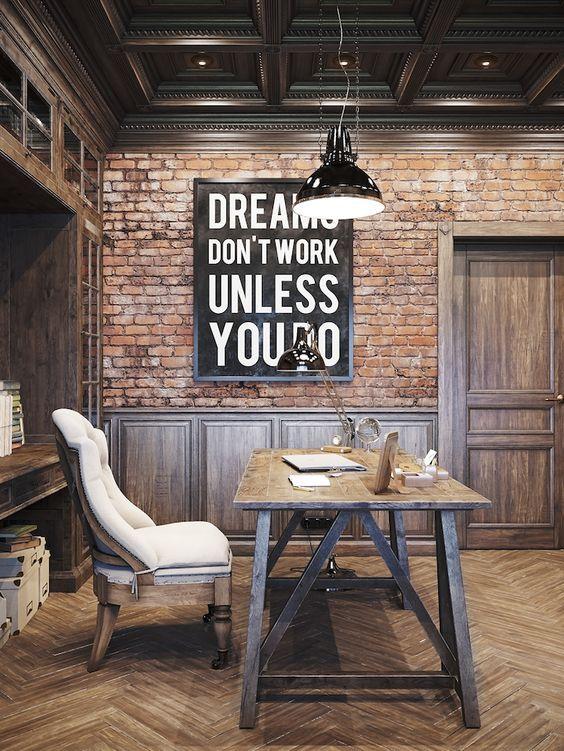 33 Chic Masculine Home Office Furniture Ideas - DigsDi