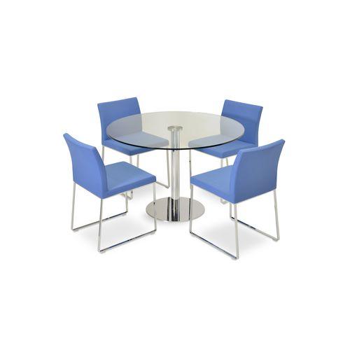Samtida matbord - TANGO - sohoConcept - glas / stål.