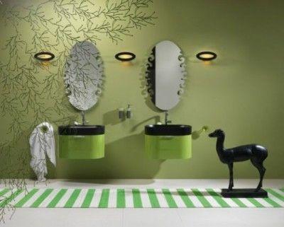 som väggen |  Grönt badrum, Grön badrumsdekor, Grönt.