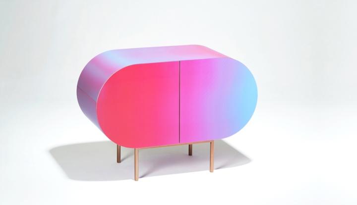 Färgbytande möbler av Orije