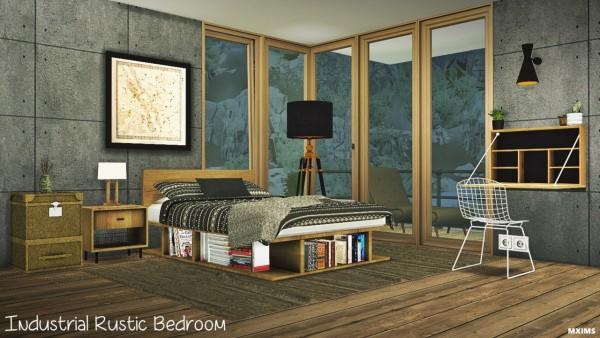 MXIMS: Industriellt rustikt sovrum • Sims 4 Downloa