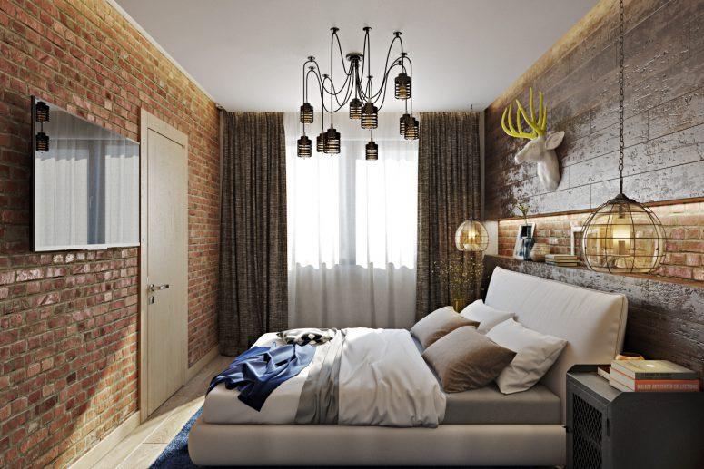 Fet industri möter rustik sovrumsdekor - DigsDi