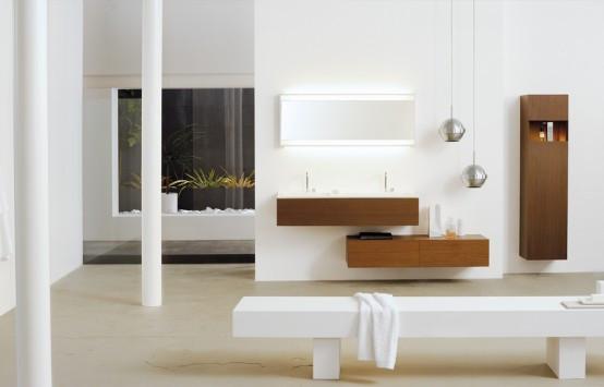 Andlig balans - Sofistikerad samling badrumsmöbler.