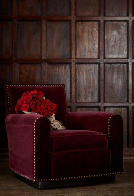 26 vackra Burgundy-accenter för reklam för höstdekorationer.