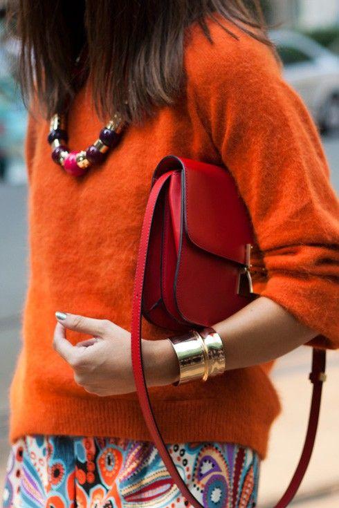 bränd orange tröja röd