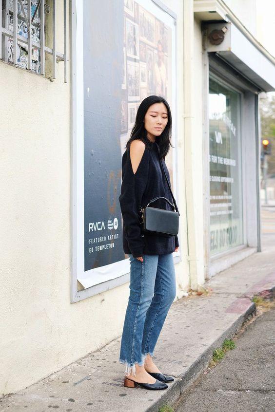kall axel tröja svart casual