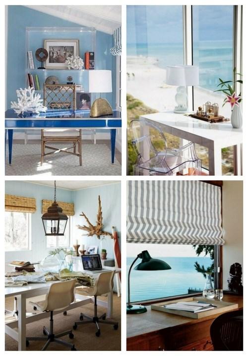 Kust- och strandinspirerade hemkontor    ComfyDwelling.c