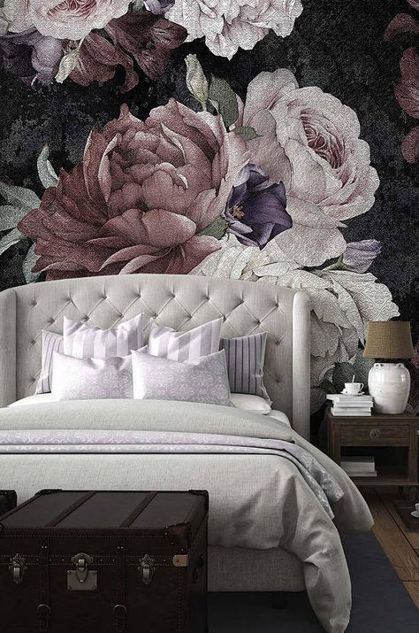 Trendiga blommor tapeter sovrum väggmålningar 33+ idéer |  Bakgrund.