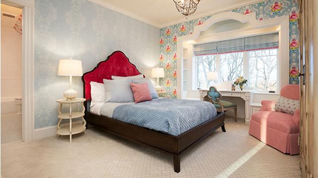 20 fängslande sovrum med blommiga tapetdesigner  Hem .