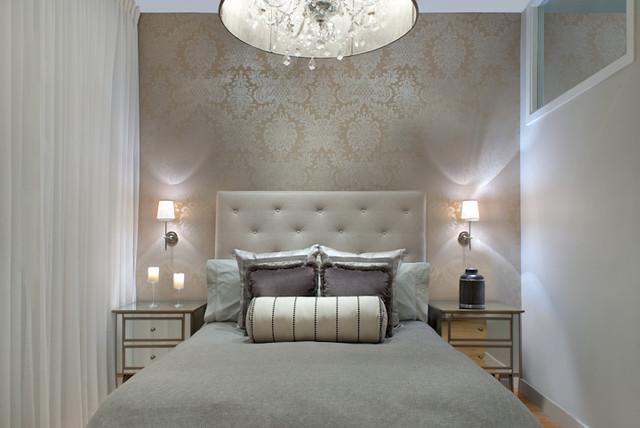 South End glamorösa sovrumsrenovering och design - samtida.