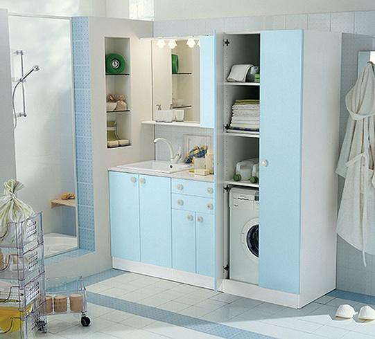 Vita och färgade tvättrumsskåp från Idea Group - DigsDi