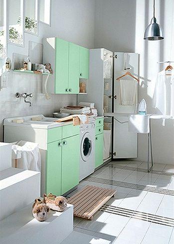 Vita och färgade tvättstuga design av Idea Group |  Tvätt.