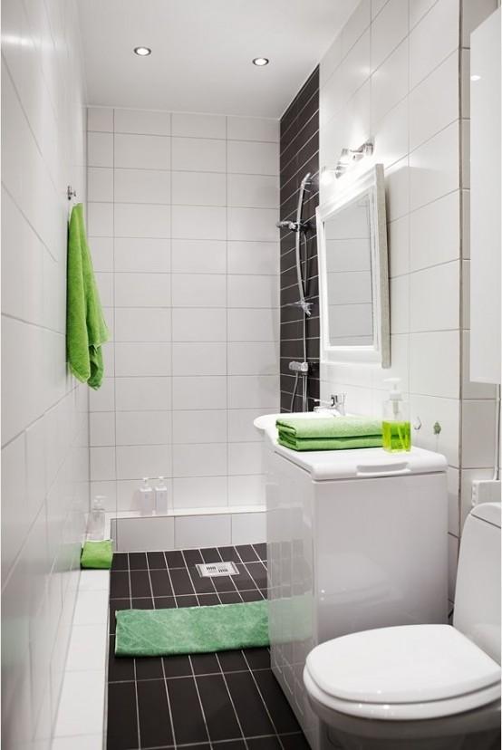 54 Coola och snygga idéer för små badrumsdesigner - DigsDi