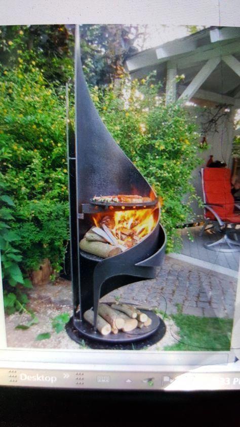 Pin av Dotty Volpe på utomhus |  Eldstadens bakgård, eldstens metall.