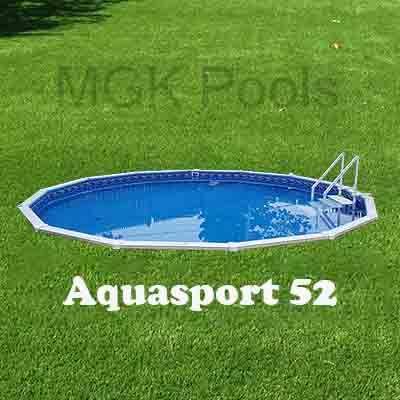 Bästa Semi-Inground Pool - Aquasport 52 Complete Packa