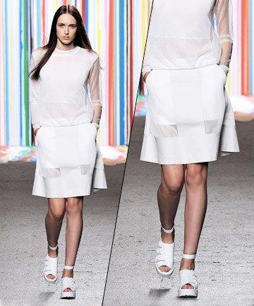vit topp transparent kjol
