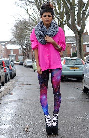 lila galax leggings chockerande rosa blus