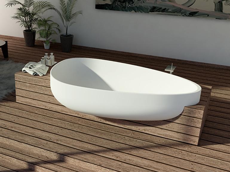 Fristående bubbelbadkar.  badkar spa som upplevelse i din.