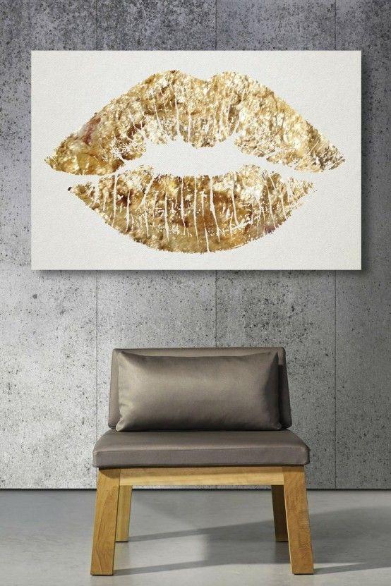 38 Glam guld accenter och tillbehör för din inredning |  Inredning.