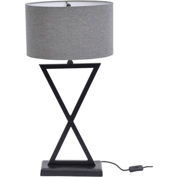 Wardour svart bordslampa med grå skugga ($ 195) ❤ gillade på.
