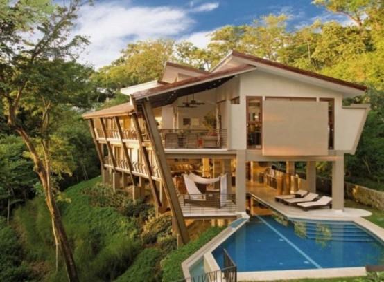 Fantastiskt tropiskt hus för semester i Costa Rica djungel - DigsDi