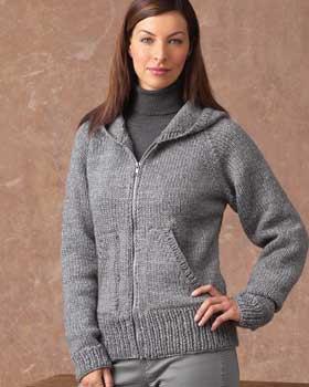 grå kofta med huva med långärmad tröja