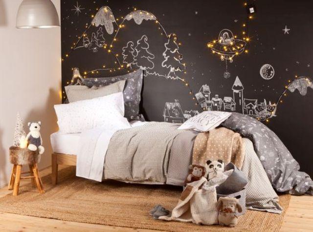 26 strängljusidéer för att göra ett barnrum drömmande - DigsDi