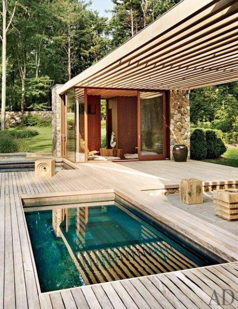 28 Coola simbassänger utomhus  Poolhus, små.