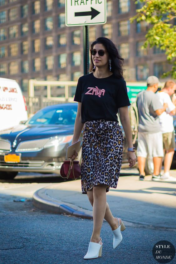 Mini kjol med leopardmönster