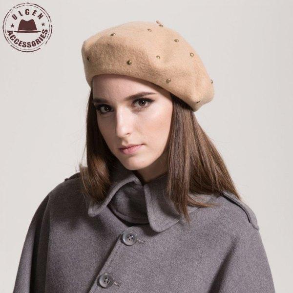 Målare nit hatt grå ull trenchcoat