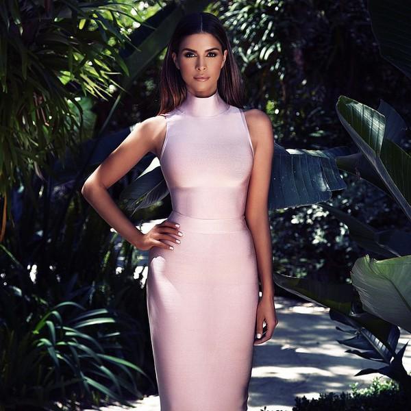 rosa bandage klänning fantastiska
