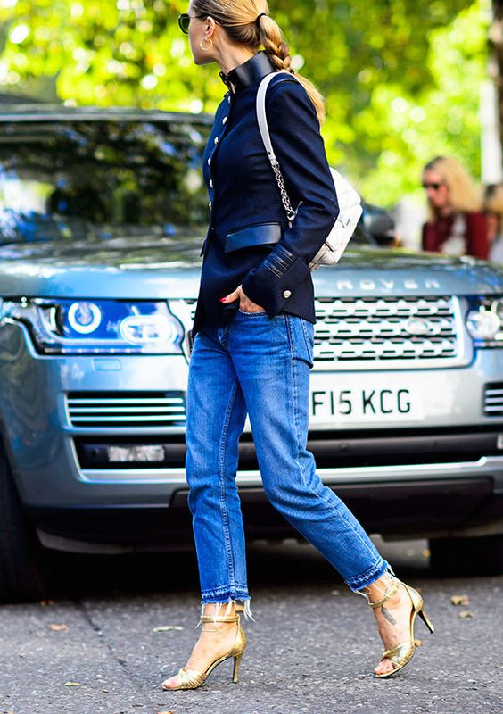 Slitna jeansjacka