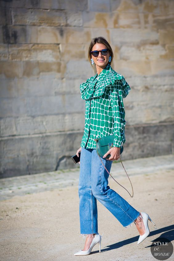slitna nedre jeansgröna