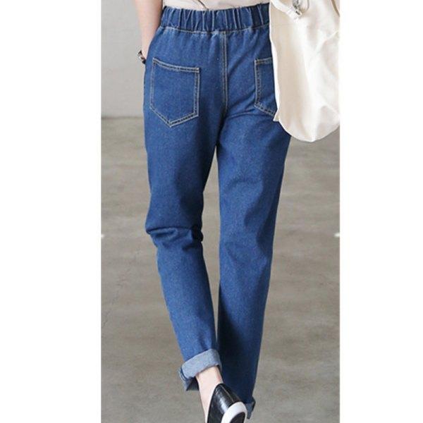 blå raka ben och jeans med raka ben