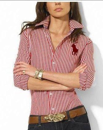 Slim Fit Button Up Shirt Brun jeans med bälte