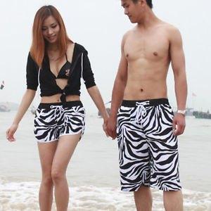 svart bikini-topp med vida shorts med kofta och zebra-tryck