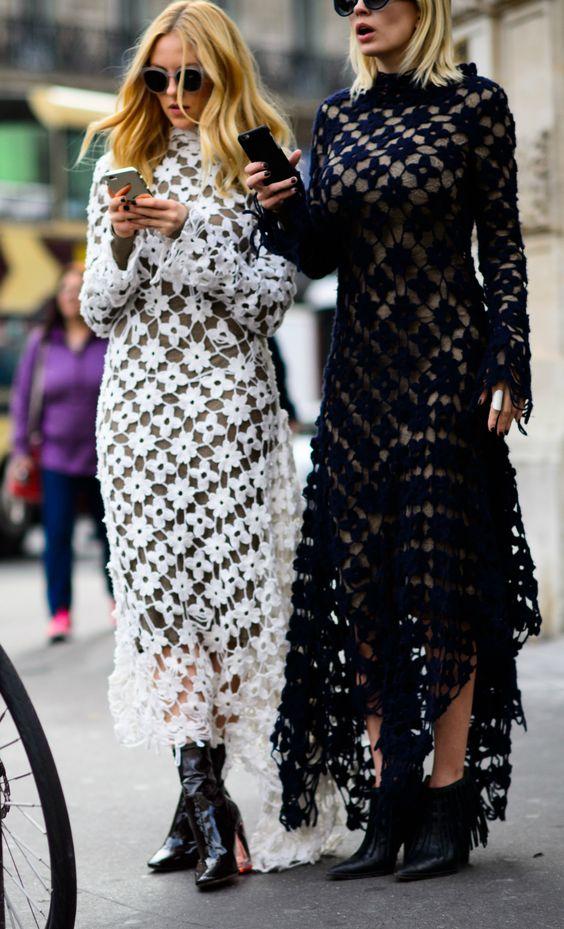 Virkad klänning dubbla besväret