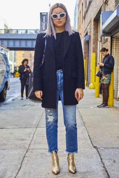 svart ullrock mom jeans